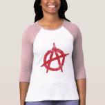 'circle a' anarchy symbol tee shirts