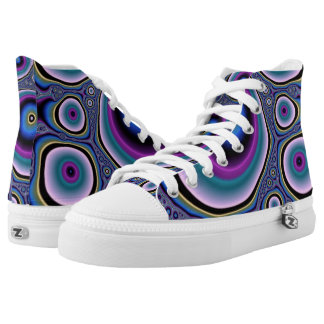Circle Abstract High Top Shoes Printed Shoes