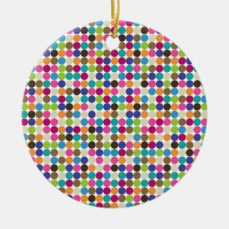 Circle Abstract Pattern Christmas Ornament