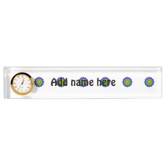 Circle abstract pattern name plate