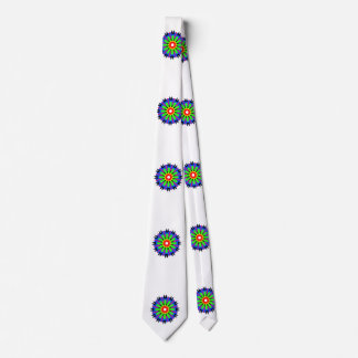 Circle abstract pattern tie