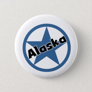 Circle Alaska 6 Cm Round Badge