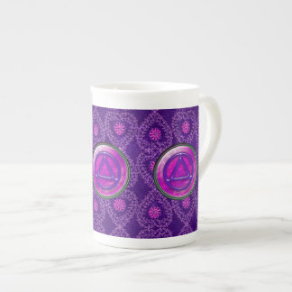 Circle and Triangle Sober Recovery BONE CHINA CUP Tea Cup