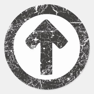 Circle Arrow Classic Round Sticker