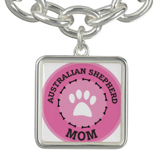 Circle Australian Shepherd Mom Badge