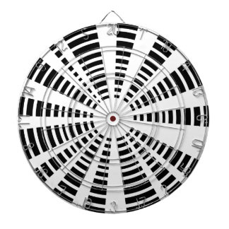 Circle Black And White Background Dartboard
