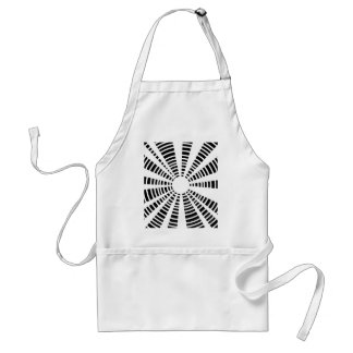 Circle Black And White Background Standard Apron