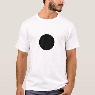 Circle black on white t-shirt