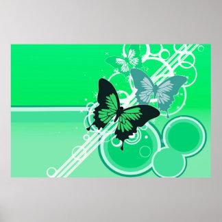 Circle Butterflies 2 Poster
