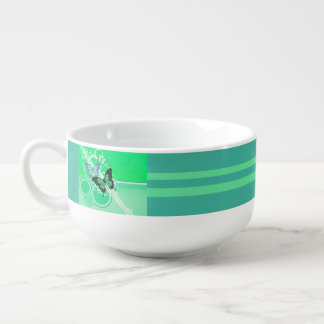 Circle Butterflies 2 Soup Mug