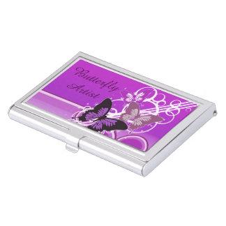 Circle Butterflies 4 Business Card Holder