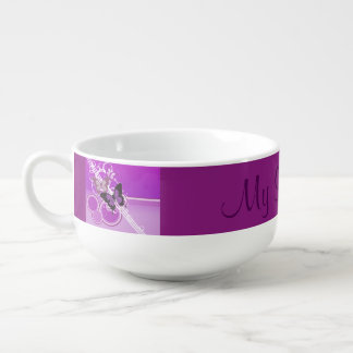 Circle Butterflies 4 Soup Mug