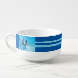 Circle Butterflies Soup Mug