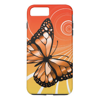 Circle Butterfly Design iPhone 8 Plus/7 Plus Case