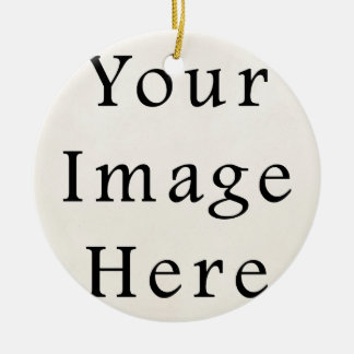 Circle Ceramic Christmas Ornament Personalized