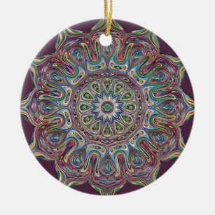 Circle  Ceramic Ornament Mandala
