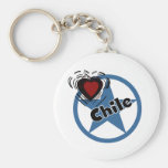 Circle Chile Basic Round Button Key Ring