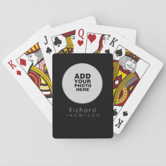 circle custom_photo black playing cards