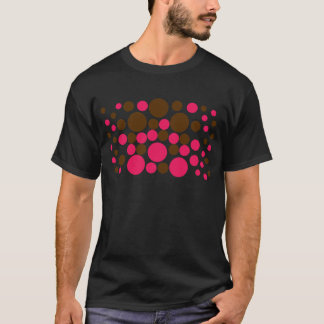 Circle Design Art Brown / Hot Pink T-Shirt