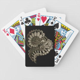 Circle design bicycle playing cards