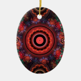 Circle design ceramic oval decoration