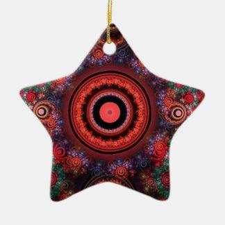 Circle design ceramic star decoration