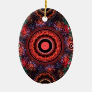 Circle design christmas ornament