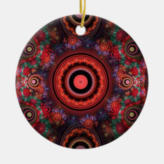Circle design christmas ornament