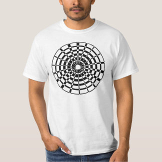 CIRCLE DESIGN IN BLACK AND WHITE T-SHIRT