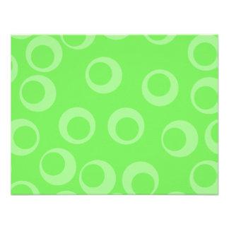 Circle design in green Retro pattern Custom Personalized Invite