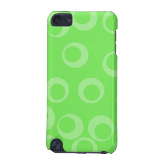 Circle design in green. Retro pattern. Custom iPod Touch (5th Generation) Case