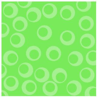 Circle design in green Retro pattern Custom Photo Cut Out