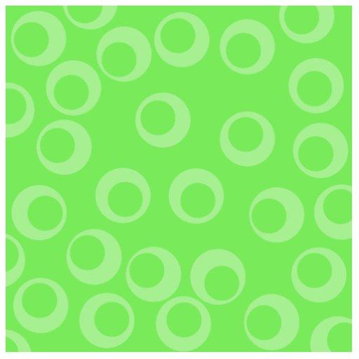 Circle design in green. Retro pattern. Custom Acrylic Cut Outs