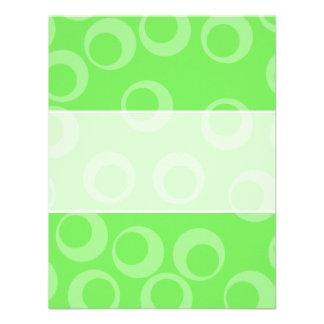 Circle design in green Retro pattern Personalized Invite
