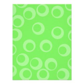 Circle design in green Retro pattern Personalized Invitation