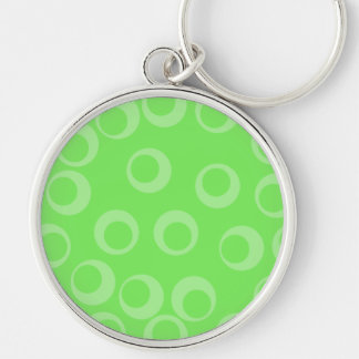 Circle design in green. Retro pattern. Key Chains