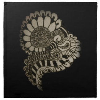 Circle design napkin