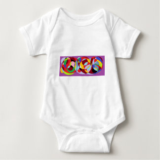 Circle design with various colours. baby bodysuit