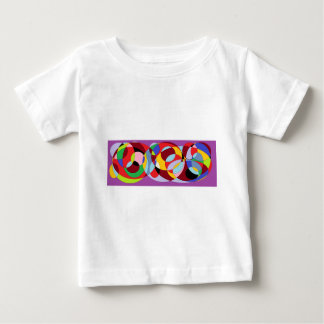 Circle design with various colours. baby T-Shirt