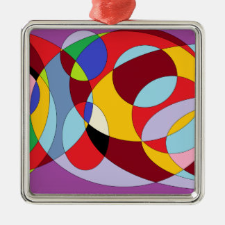 Circle design with various colours. christmas ornament