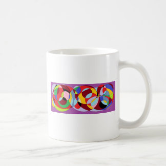 Circle design with various colours. coffee mug