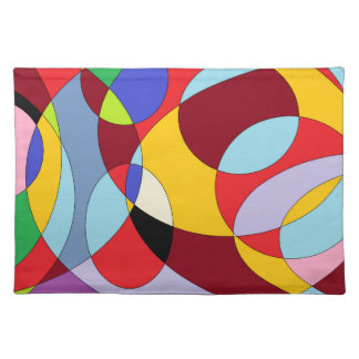 Circle design with various colours. placemat