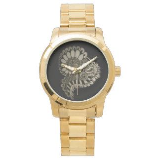 Circle design wristwatch
