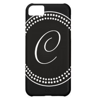 Circle Dots Monogram iPhone Case