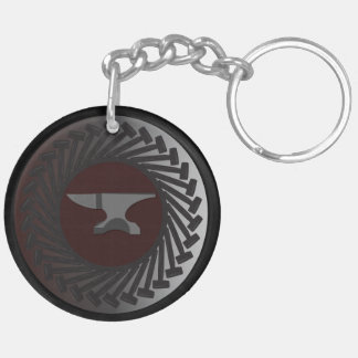 Circle (double-sided) Keychain - ANVIL & HAMMERS