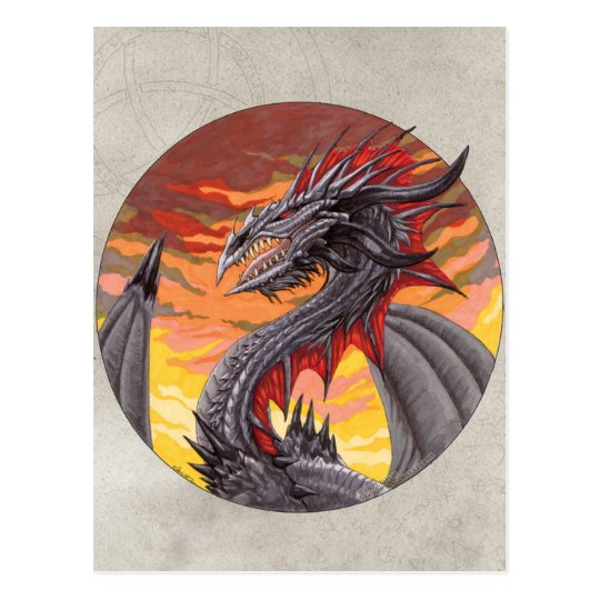 Circle Dragon - Iron Postcard