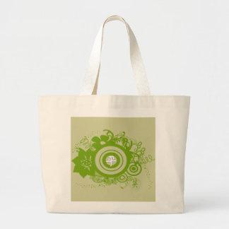 Circle Flowers Swirly - Customized Jumbo Tote Bag
