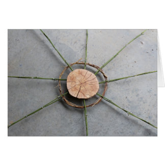 Circle Form 1 Wide Wood and Bamboo Card