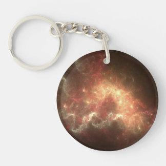 Circle Galaxy Keychain