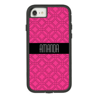 Circle Geometric Magenta and Black Pattern Case-Mate Tough Extreme iPhone 8/7 Case